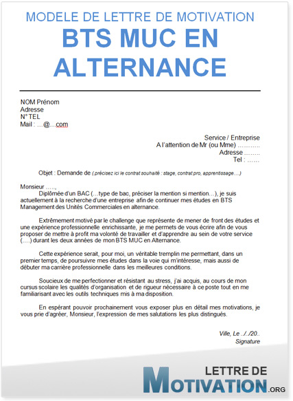 Lettre De Motivation Contrat D Apprentissage